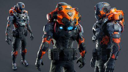 مدل سه بعدی ربات سرباز Fortnite Soldier
