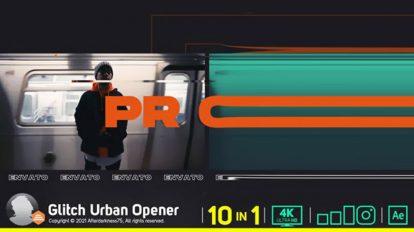 پروژه افترافکت افتتاحیه گلیچ Glitch Urban Opener
