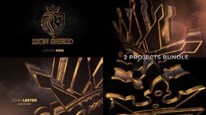 پروژه افترافکت نمایش لوگو حماسی Gold Black Luxury and Epic Logo