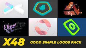 پروژه افترافکت مجموعه تیزر نمایش لوگو ساده Good Simple Logos Pack