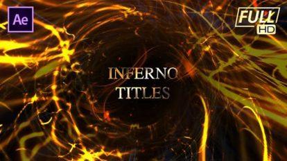 پروژه افترافکت نمایش عناوین با افکت های آتشین Inferno Ember Fire Titles
