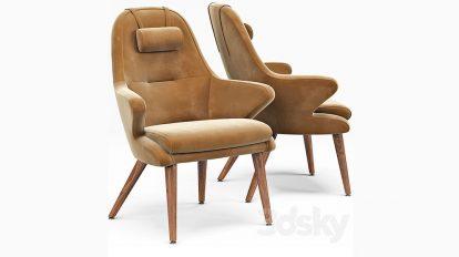 مدل سه بعدی صندلی Kaia Lounge Chair