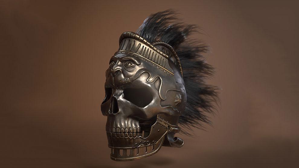 مدل سه بعدی کلاه خود پادشاه King Gaiserics