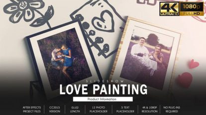 پروژه افترافکت اسلایدشو عاشقانه Love Story Slideshow Painting