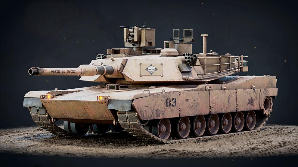 مدل سه بعدی تانک M1A2 Abrams