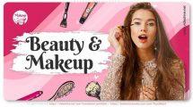 پروژه افترافکت اینترو وبلاگ زیبایی Makeup Blog Intro