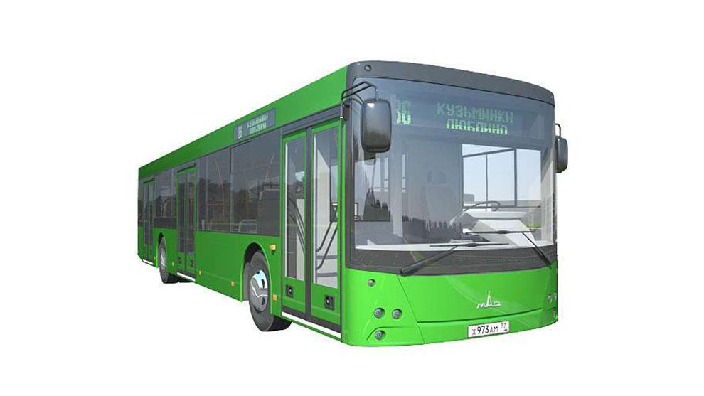 مدل سه بعدی اتوبوس MAZ 203 Bus