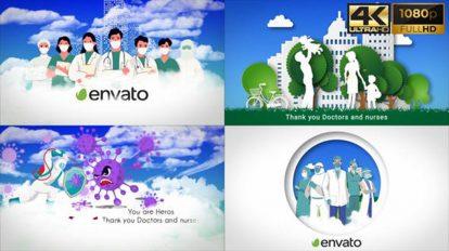 پروژه افترافکت افتتاحیه پزشکی Medical Healthcare Are Heroes