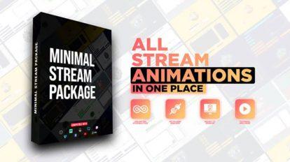 پروژه افترافکت اجزای استریم آنلاین Minimal Stream Pack
