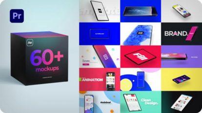 پروژه پریمیر مجموعه موکاپ Mockup Kit for Premiere Pro