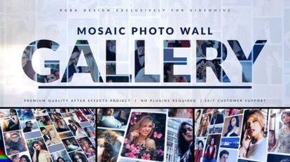 پروژه افترافکت نمایش لوگو با عکس های موزاییکی Mosaic Photo Gallery