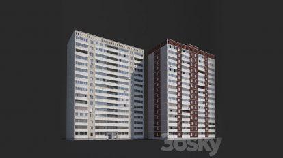 مدل سه بعدی ساختمان مسکونی Multi-Storey Residental Building