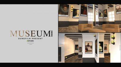 پروژه افترافکت گالری هنری Museum Art Gallery