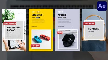پروژه افترافکت اسلایدشو فروشگاه آنلاین Online Shop Promo