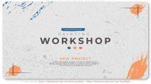 پروژه افترافکت اسلایدشو کارگاه نقاشی Painting Workshop Slideshow