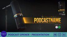 پروژه افترافکت پرزنتیشن پودکست Podcast Opener Presentation