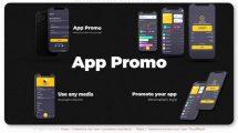 پروژه افترافکت تیزر تبلیغاتی اپلیکیشن موبایل Promote Your Mobile App