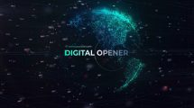 پروژه افترافکت افتتاحیه دنیای دیجیتال Smart Digital World