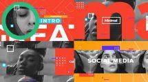 پروژه افترافکت افتتاحیه شبکه اجتماعی Social Media Opener