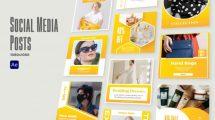 پروژه افترافکت مجموعه پست شبکه اجتماعی Social Media Posts