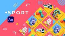 پروژه افترافکت تیزر تبلیغاتی ورزشی Sport Product Promo