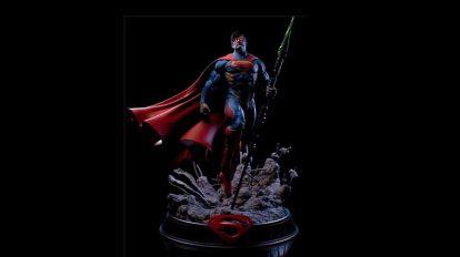 مدل سه بعدی مجسمه سوپرمن Superman Statue 3D Print
