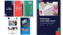پروژه افترافکت مجموعه استوری برای دوره آنلاین Target Online Course Stories