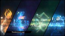 پروژه افترافکت نمایش لوگو با رعد و برق Thunder Impact Logo