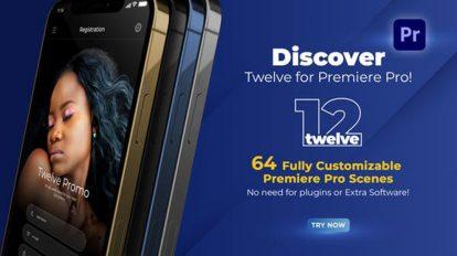 پروژه پریمیر تیزر تبلیغاتی اپلیکیشن Twelve App Promo