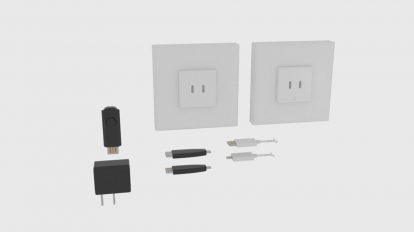 مدل سه بعدی قطعات شارژر USB Charger Component
