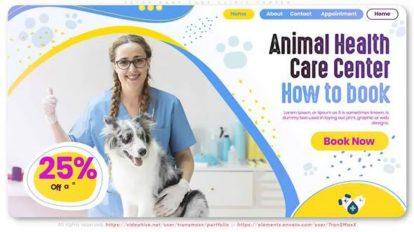پروژه افترافکت کلینیک حیوانات Veterinary Care Clinic Center