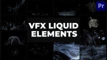 پروژه پریمیر مجموعه انیمیشن مایعات VFX Liquid Pack