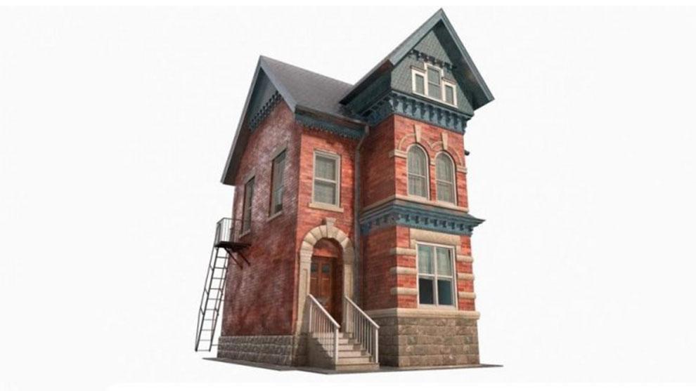 مدل سه بعدی خانه عصر ویکتوریا Victorian House