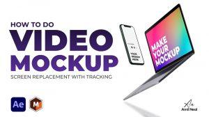 آموزش ساخت موکاپ صفحه نمایش در افترافکت Video Mockup Screen Replacement