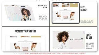 پروژه افترافکت تیزر تبلیغاتی وبسایت Web Site Light Promo