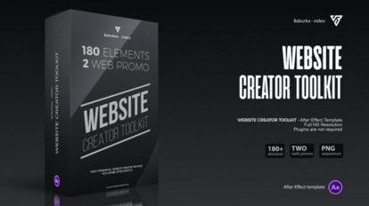 پروژه افترافکت مجموعه اجزای تیزر تبلیغاتی وبسایت Website Creator Toolkit