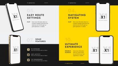 پروژه افترافکت تیزر تبلیغاتی اپلیکیشن X1 App Promo
