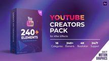 پروژه افترافکت مجموعه اجزای ویدیوی یوتیوب Youtube Creators Pack