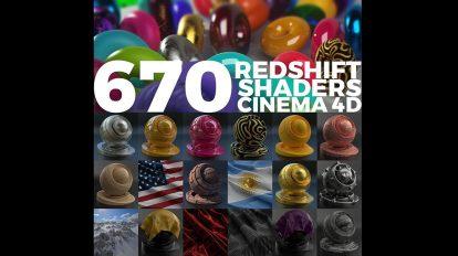مجموعه متریال ردشیفت برای سینمافوردی Redshift Shaders Cinema 4D