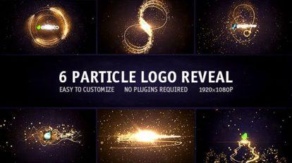 پروژه افترافکت نمایش لوگو پارتیکلی Particle Logo Reveal Pack