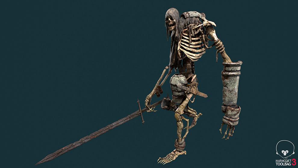 مدل سه بعدی جنگجو اسکلتی Ancient Skeleton Warrior
