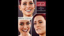 مجموعه پریست حالت صورت زن Anfisa Expressions for Genesis 8 Female