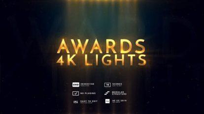 پروژه افترافکت نمایش عناوین مراسم جوایز Awards 4K Lights