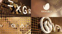پروژه افترافکت نمایش لوگو طلایی Black & White Gold Logo Opener