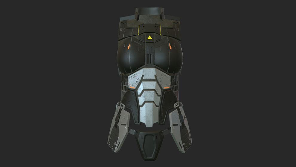 مدل سه بعدی پوشش محافظ بدن Body Armor