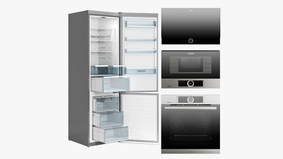 مجموعه مدل سه بعدی لوازم آشپزخانه بوش Bosch Series 8 Kitchen Appliances