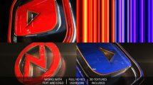 پروژه افترافکت نمایش لوگو برودکست Broadcast 3D Logo Opener