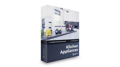 مجموعه مدل سه بعدی وسایل آشپزخانه CGAxis Models Volume 116 Kitchen Appliances