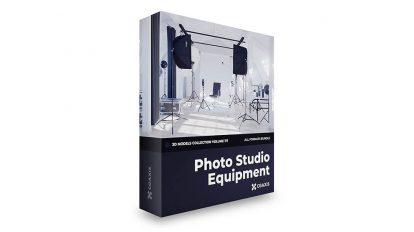 مجموعه مدل سه بعدی تجهیزات عکاسی CGAxis Models Volume 117 Photo Equipment