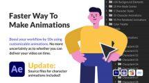 پروژه افترافکت مجموعه انیمیشن کاراکتر Character Animation Pack